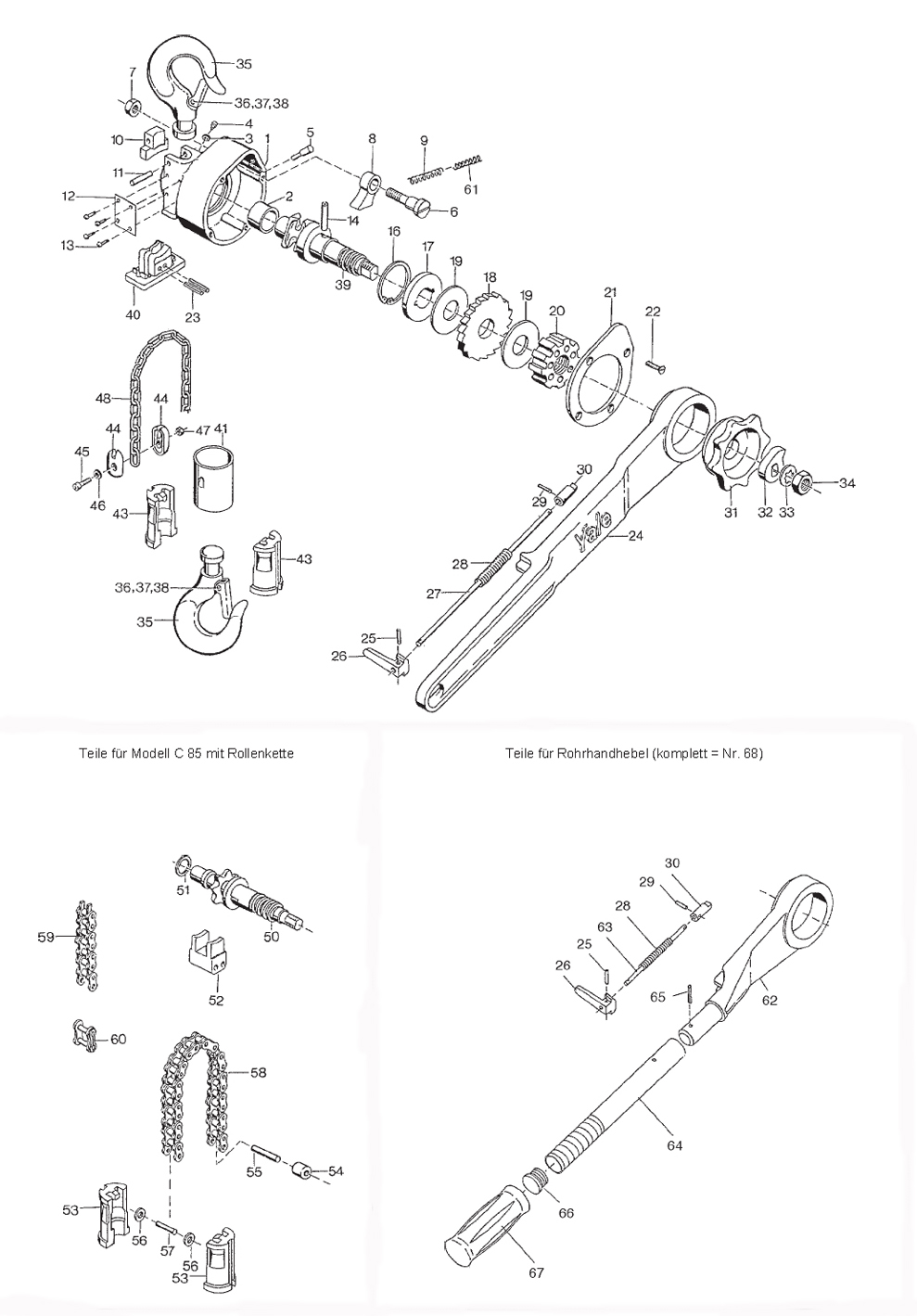 Nett 5 Tonnen Yale Drahtseilzug Galerie - Schaltplan Serie Circuit ...