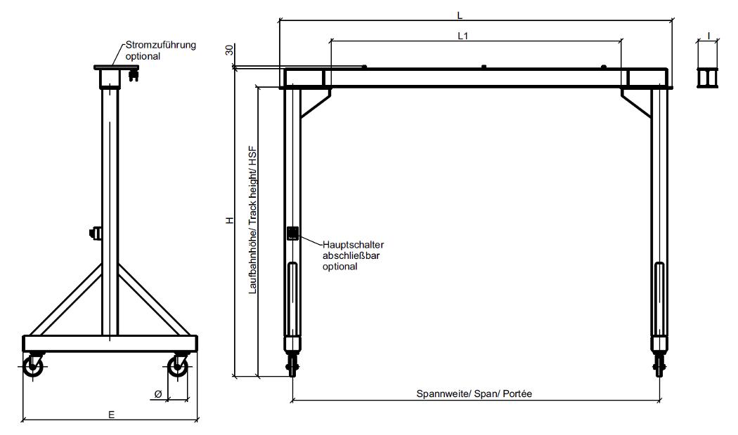 portalkran serie 800 h o rosinski gmbh. Black Bedroom Furniture Sets. Home Design Ideas