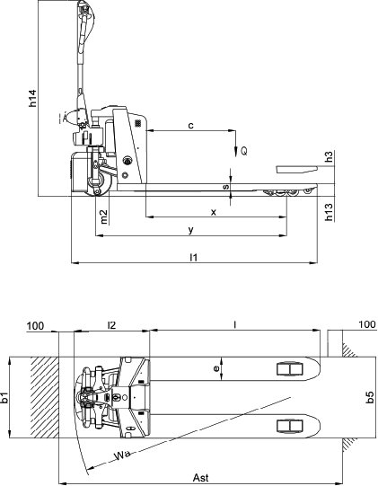 elektrogabelhubwagen joker classic h o rosinski gmbh. Black Bedroom Furniture Sets. Home Design Ideas